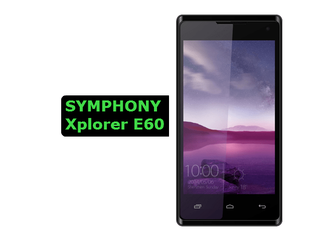 symphony xplorer E60 full specification
