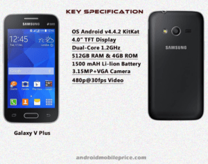 samsung galaxy v plus specs & price in bangladesh