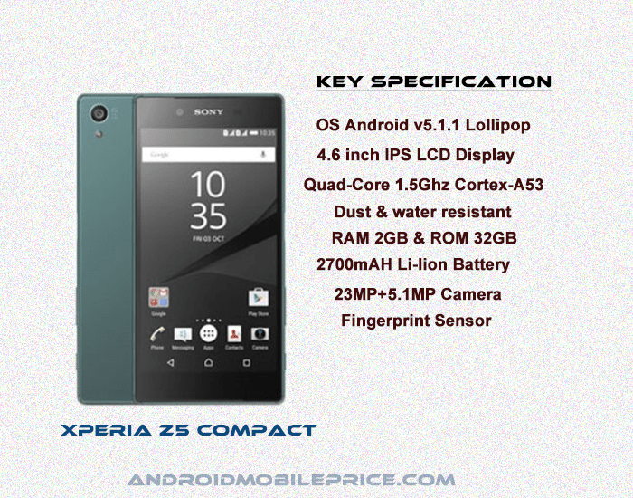 xperia z5 compact full specification